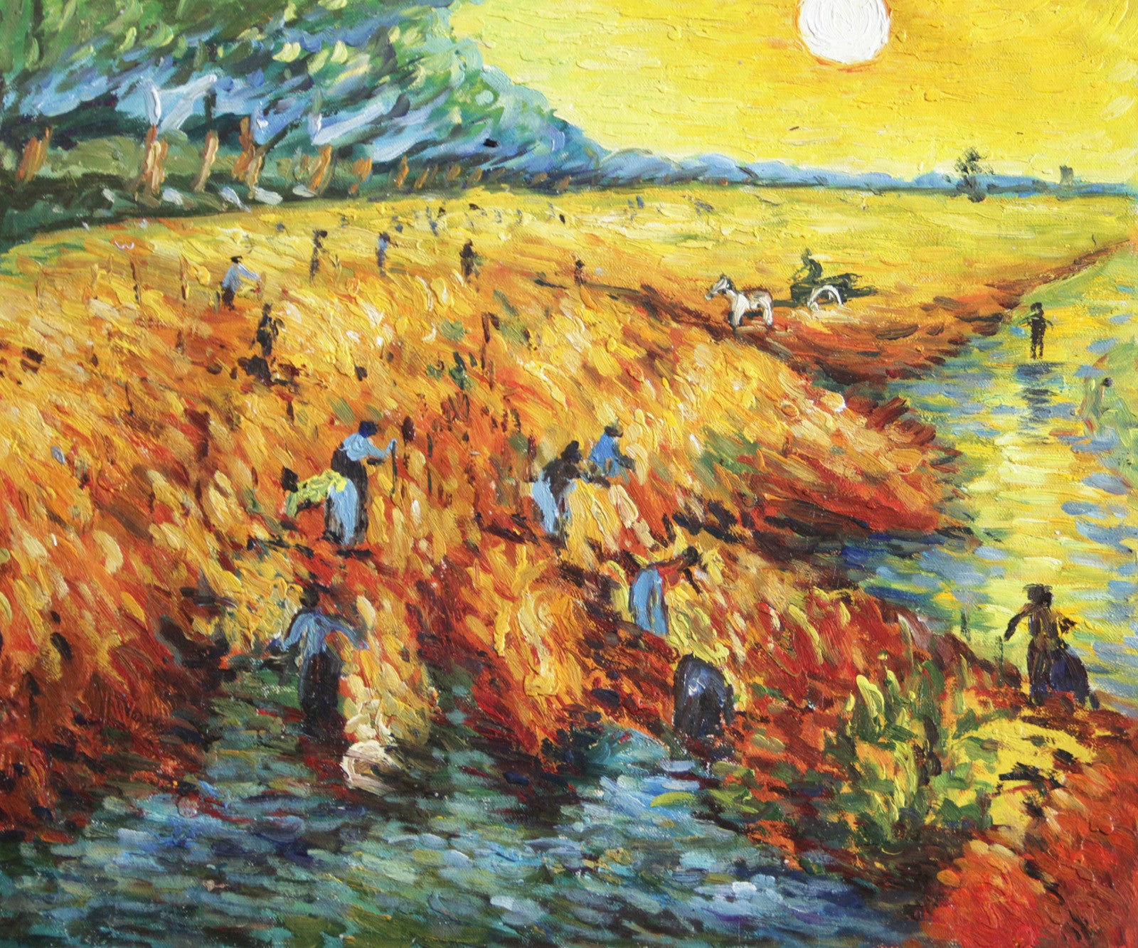 VG73-Red Vineyards at Arles