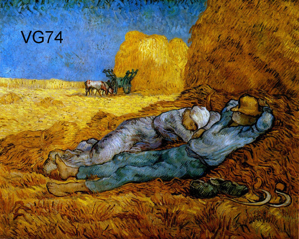 "VG74-Rest Work (after Millet)-Vincent van Gogh Repro Oil Painting on Canvas 20x24"" - USA Oil Painting- Art Supplies"