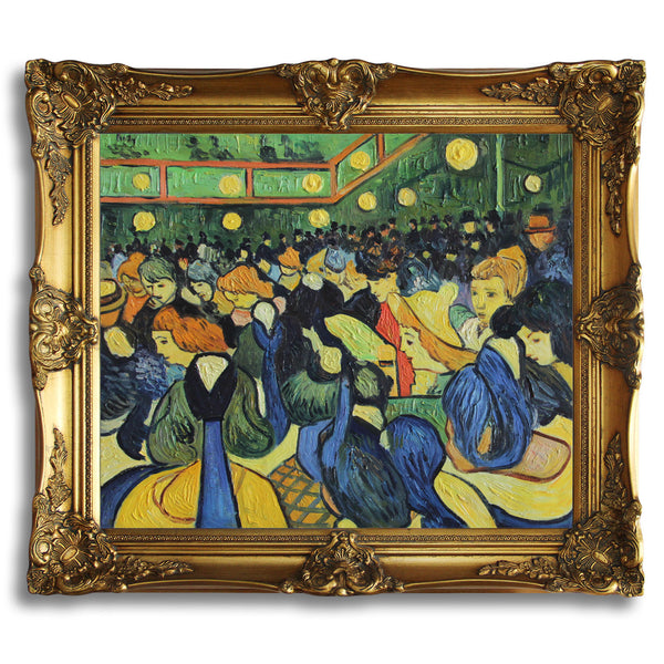 "VG84-The ballroom at Arles-Vincent van Gogh Repro Oil Painting on Canvas 20x24"" - USA Oil Painting- Art Supplies"