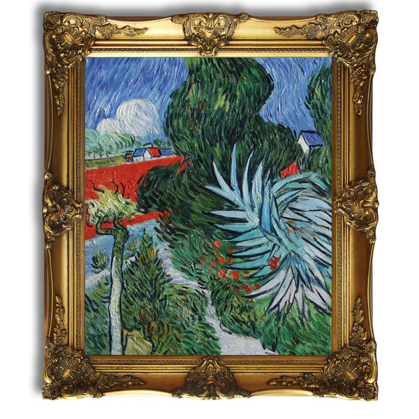 "VG85-The Garden of Doctor Gachet at Auvers-sur-Oise-Vincent van Gogh Repro Oil Painting 20x24"" - USA Oil Painting- Art Supplies"