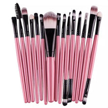 15 pcs 1 Sets Eye Shadow Foundation Eyebrow Lip Brush Makeup Brushes Tool