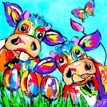 "Full Square Diamond 5D DIY Diamond Painting "" Rainbow Cows "" 3D Embroidery Cross Stitch Mosaic Painting Home Wall Decor"