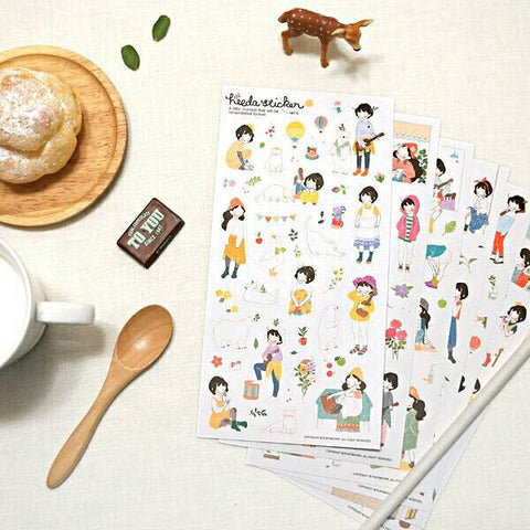 Cute Stickers 6 Pcs Heeda Second Quarter Of The Forest Department Sweet Girl Korean Girl Diary Pvc Decorative Sticker scrapbooking-Hot Sale Products free ship to worldwide