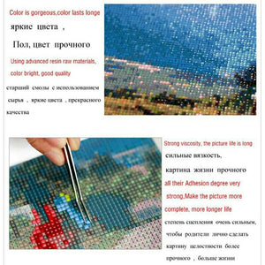 2017 new product square full drill 5D diamond painting square diamond embroidery landscape Diamond Mosaic Cross Stitch DIY kits