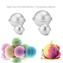6pcs/pack Bath Bombs Metal Aluminum Alloy Bath Bomb Mold 3D Ball Sphere Shape DIY Bathing Tool Accessories Creative Mold Free Shipping