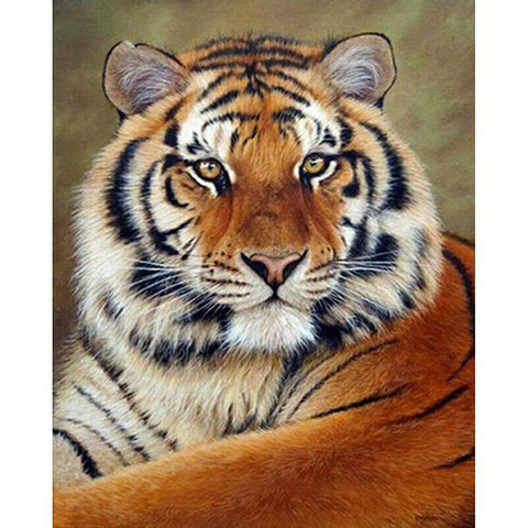 "5D DIY Diamond Painting Full Square Drill ""Tiger"" 3D Embroidery set Cross Stitch Home Wall Art Decor gift Mosaic Crafts kit set-Hot Sale Products free ship to worldwide"