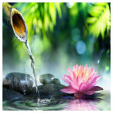 "5D DIY Diamond Painting Full Square Drill ""Bamboo Spring Lotus"" 3D Embroidery set Cross Stitch Home Wall Art Decor gift Mosaic Craft kit-Hot Sale Products free ship to worldwide"