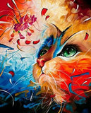 "5D DIY Diamond Painting Full Square Drill ""Graffiti Cat Butterfly"" 3D Embroidery set Cross Stitch Home Wall Art Decor gift Mosaic Craft kit-Hot Sale Products free ship to worldwide"