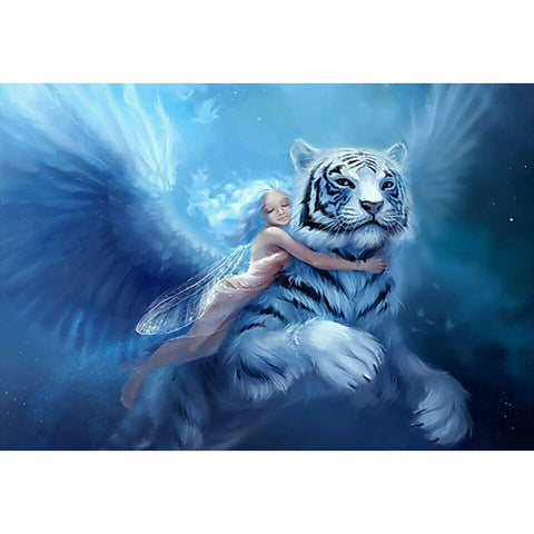 "5D DIY Diamond Painting Full Square Drill ""Wings Elf & Tiger"" 3D Embroidery set Cross Stitch Home Wall Art Decor gift Mosaic Craft-Hot Sale Products free ship to worldwide"