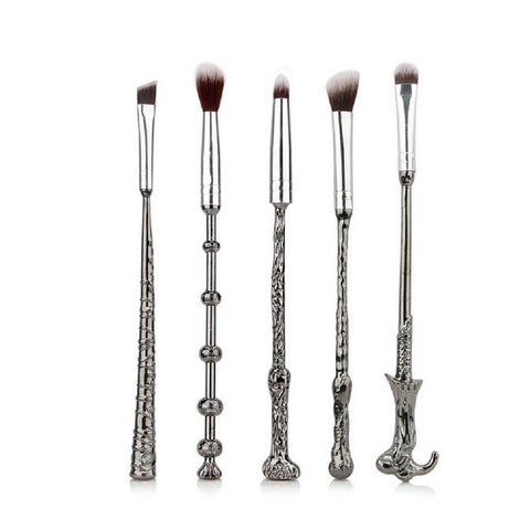 Harry Potter Wand Makeup Brush Set 5pcs Eye Shadow Brush Eye Makeup Tools Kit Free Brush Egg Cleaner-Hot Sale Products free ship to worldwide