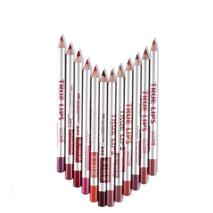 Professional 12pcs Lip Liner Pencil Set Waterproof Long Lasting Matte Liner Pen Makeup Cosmetic Tool