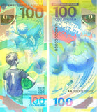 2018 FIFA World Cup Soccer Football. Banknote 100 rubles Russia-Hot Sale Products free ship to worldwide