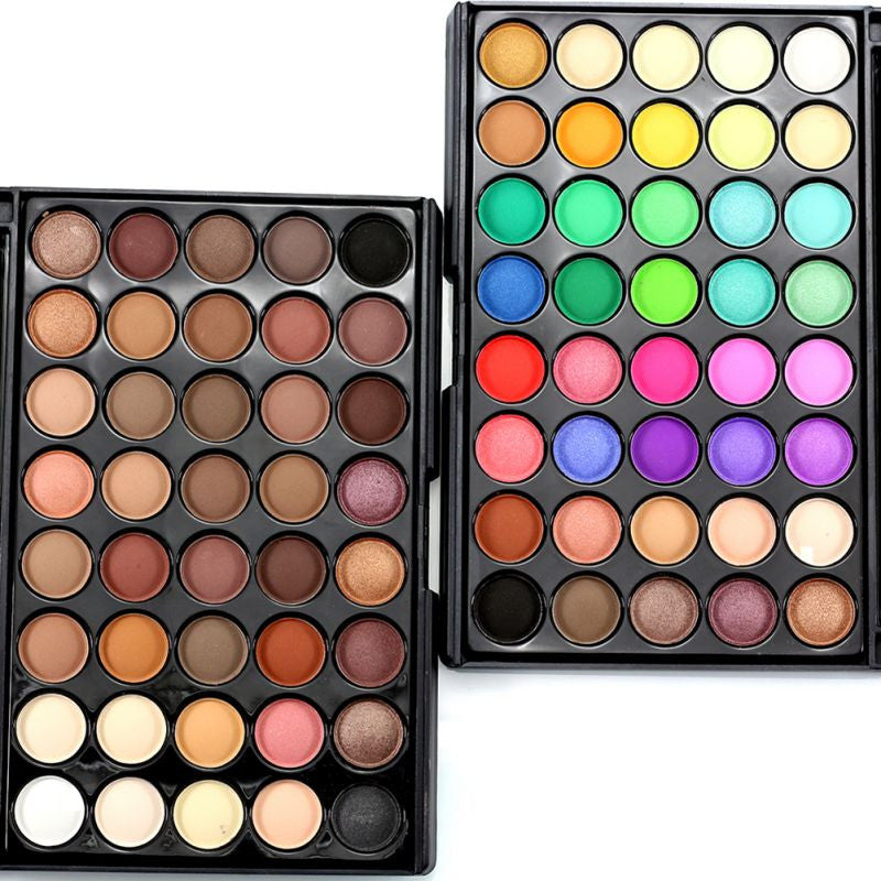 40 Earth Colors Professional Matte Pigment Eyeshadow Palette Cosmetic Makeup Glitter Eye Shadow