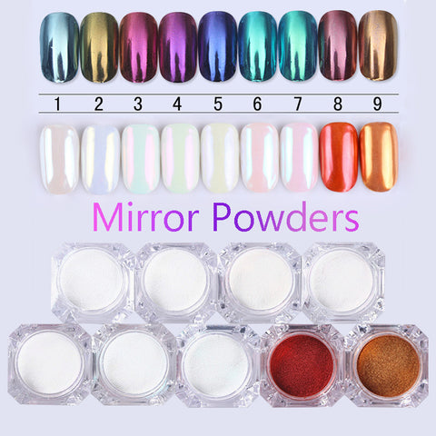 Mirror Nail Glitter Pigment Powder Gold Blue Purple Dust Nail Art Glitter Chrome Powder Decorations-Hot Sale Products free ship to worldwide