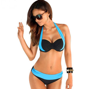 Sexy Bikinis Women Swimsuit High Waisted Bathing Suits Swim Halter Push Up Bikini Plus Size Swimwear