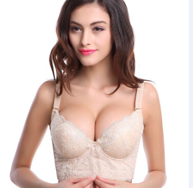 Deep V adjustment type bras for women,five hook-and-eye push-up bras,lace thin cup B C bralette-Hot Sale Products free ship to worldwide