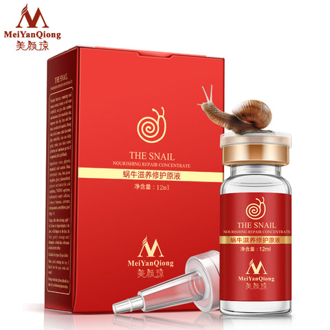 High Quality Snail 100% pure plant extract Hyaluronic acid liquid whitening blemish serum ampoules anti-acne Rejuvenation Serum-Hot Sale Products free ship to worldwide