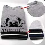 cotton casual pug life mens t shirts top quality fashion short sleeve men's tee-Hot Sale Products free ship to worldwide