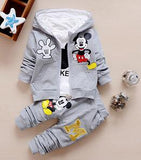 Kids Boys Clothing Set Autumn Winter 3 Piece Sets Hooded Coat Suits Fall Cotton Baby Boys Clothes Mickey-Hot Sale Products free ship to worldwide