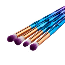 Makeup Brush Rainbow Makeup Brushes Set 10pcs Rhinestone Tools Pro Powder Foundation Eye Lip Concealer Face colrful Brush Kit