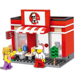 Street Model Store Shop KFC McDonald`s Building Block Toys Compatible with Lego-Hot Sale Products free ship to worldwide