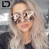 Ladies Round Aviator Women Pink Mirror 2017 Luxury Shades Mirror New Oval Sun Glasses For Women-Hot Sale Products free ship to worldwide