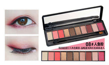 10 Colors Shimmer Matte Eye Shadow Makeup Palette Glitter Eyeshadow Natural Make Up Cosmetics Set