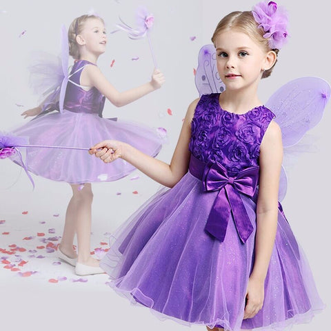 Princess Flower Girl Dress Summer 2017 Tutu Wedding Birthday Party Dresses Girls Children Costume-Hot Sale Products free ship to worldwide