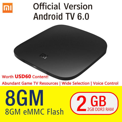 Xiaomi TV BOX 3 Android 6.0 2/8G Smart 4K Quad Core HDR Movie WIFI Google Play Netflix Red Bull-Hot Sale Products free ship to worldwide