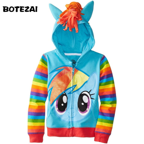 Girls My little pony Kids Jacket Children's Coat Cute Girls Coat &Hoodies & Girls Jacket Children Clothing Cartoon-Hot Sale Products free ship to worldwide