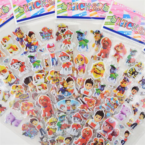 5 10 sheets/lot Paw Patrol for Children Dog patrol Pet Patrol Kids Stickers Toys Bubble stickers Teacher Lovely Reward Sticker-Hot Sale Products free ship to worldwide