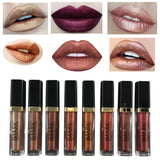 Shimmer Liquid Lipstick Professional Waterproof Matte Lipstick Metal Style Gold Nude Red Lip Makeup-Hot Sale Products free ship to worldwide