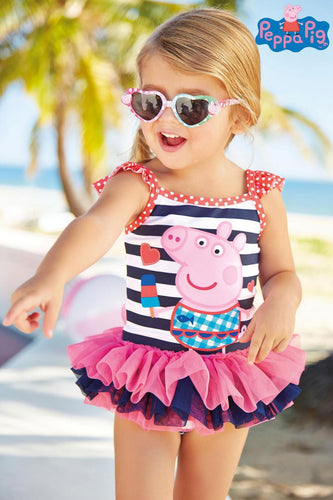 Little Girls swimsuit female baby Girl Peppa Pig cartoon one-piece girl summer Spa