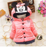 Big Size Baby Girls Jackets Autumn Winter Puffer Jacket Minnie Mouse Coat Kids Clothes Children Warm Outerwear Coats-Hot Sale Products free ship to worldwide