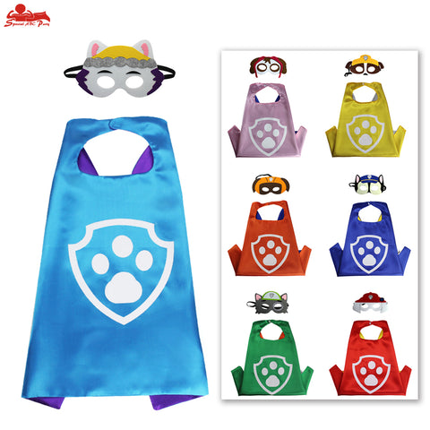 Child cat paw cape costume mask children birthday decoration puppy patrol animal face eye masks boy party dress-Hot Sale Products free ship to worldwide