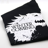 Stark cotton short sleeve Game of Thrones Men T-shirt WINTER IS COMING tees-Hot Sale Products free ship to worldwide