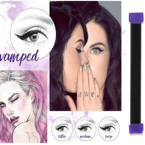 1Set Makeup Vamp Stamps Eyeliner Tool Cat Eye Wing Eyeliner Stamp