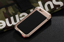 Luxury Doom Armor Duty Shock life-waterproof Metal Aluminum Phone Cases For iphone 8 X 7 SE 6 6S Plus