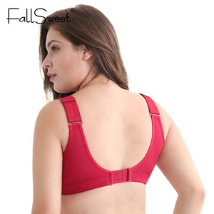 Wire Free Bras for Women Plus Size Brassiere Comfort Underwear Wide Straps and Back Support 34-52 C D cup