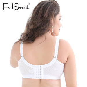 Plus Size Bras D DD cup Push Up Lace Brassiere for Women Underwire Lace Bras for Large Cups White black Red