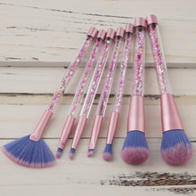 Aquarium Makeup Brushes Kit Diamond 7/12 Pcs Glitter Crystal Makeup Brush Pro Highlighter Foundation Powder Make Up Brush Set