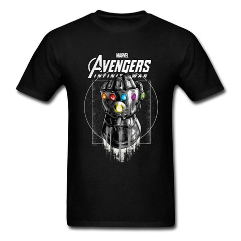 Marvel Infinity Gauntlet Thanos Clothing T-shirt Avengers 3 Infinity War Men-Hot Sale Products free ship to worldwide
