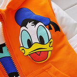 Boys Clothes Suits Cartoon Donald Duck Baby Kids Boys Outerwear Hoodie Jacket Baby Sport Boys Clothing Sets Suits-Hot Sale Products free ship to worldwide