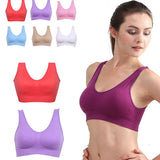 Women Girls Padded Wireless Seamless Bra Vest Tops Rimless Bras Plus Size-Hot Sale Products free ship to worldwide