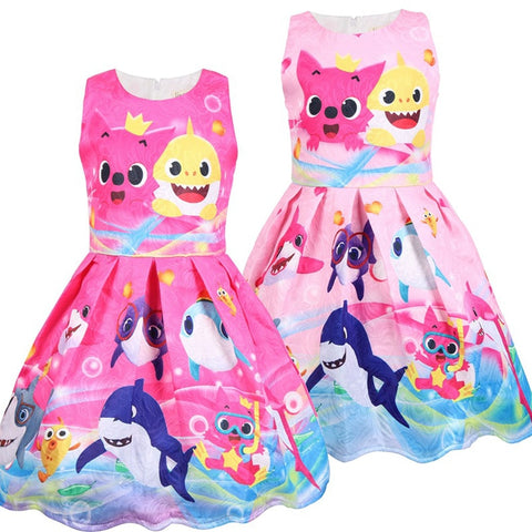 Girls Dress Summer Princess Dresses Baby Shark Dresses Birthday Gift Costume toddler Kids Dress-Hot Sale Products free ship to worldwide