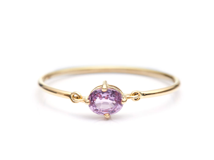 Pink Sapphire Hard Ring
