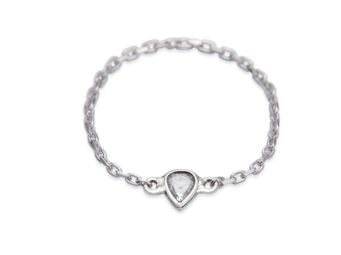 Diamond Rose-cut Chain Ring