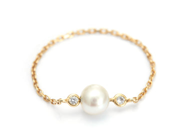 Pearl & Diamond Chain Ring