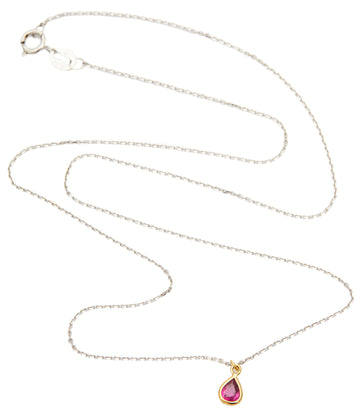 Petite Ruby 2 Toned Gold Whispers Necklace