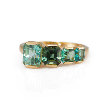 Green Tourmaline Crescendo Ring
